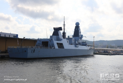 HMS Diamond w Porcie Gdynia [VIDEO]